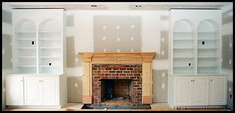 fireplace surround bookcases 1